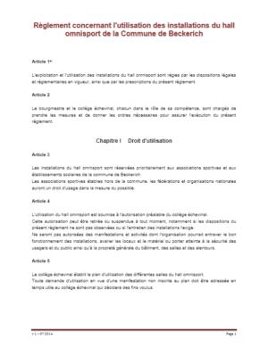 Règlement interne HS