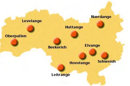 carte localités redange