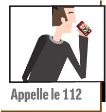 pictogramme appel secours 112