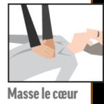 Pictogramme massage cardiaque