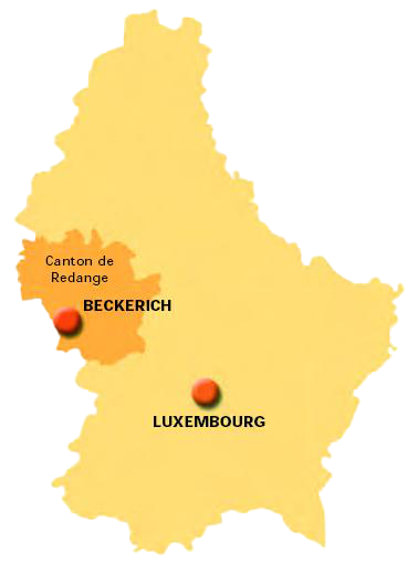 carte canton Beckerich