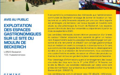 Exploitation des espaces gastronomiques du Moulin de Beckerich