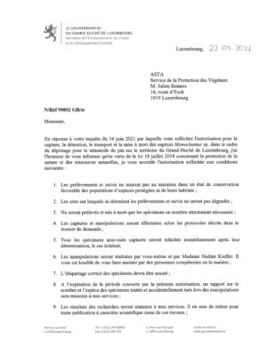 Environnement_Notification de decision pour le dossier 99852-Derogation 28 (ASTA)