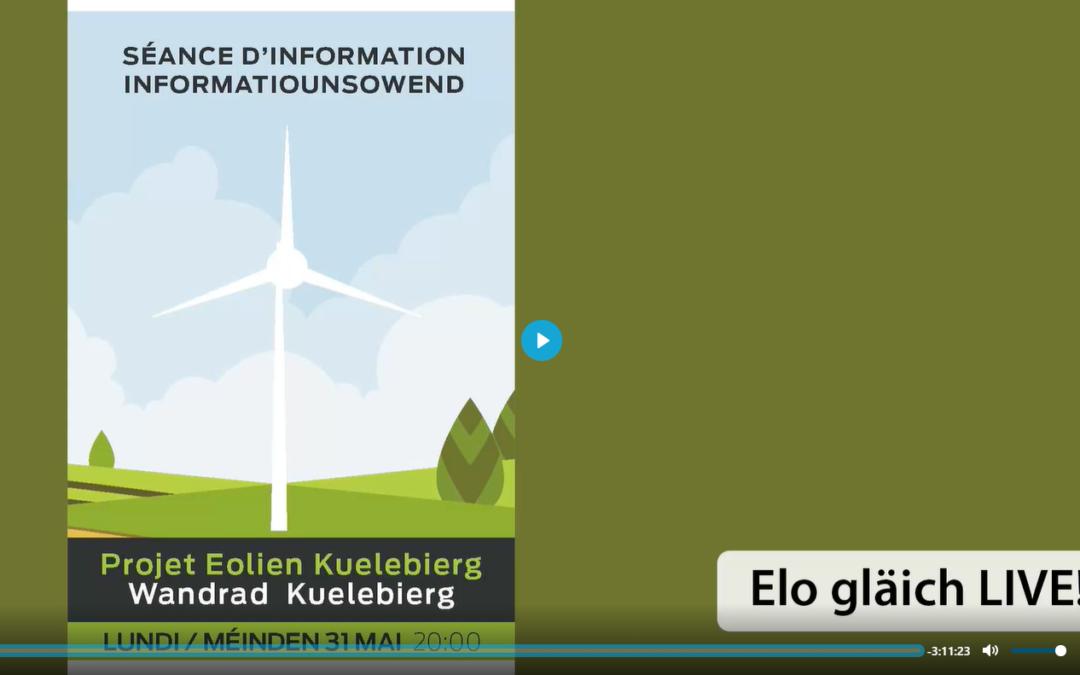 Projet éolien ¦ Wandmillen Kuelebierg – Séance d'information