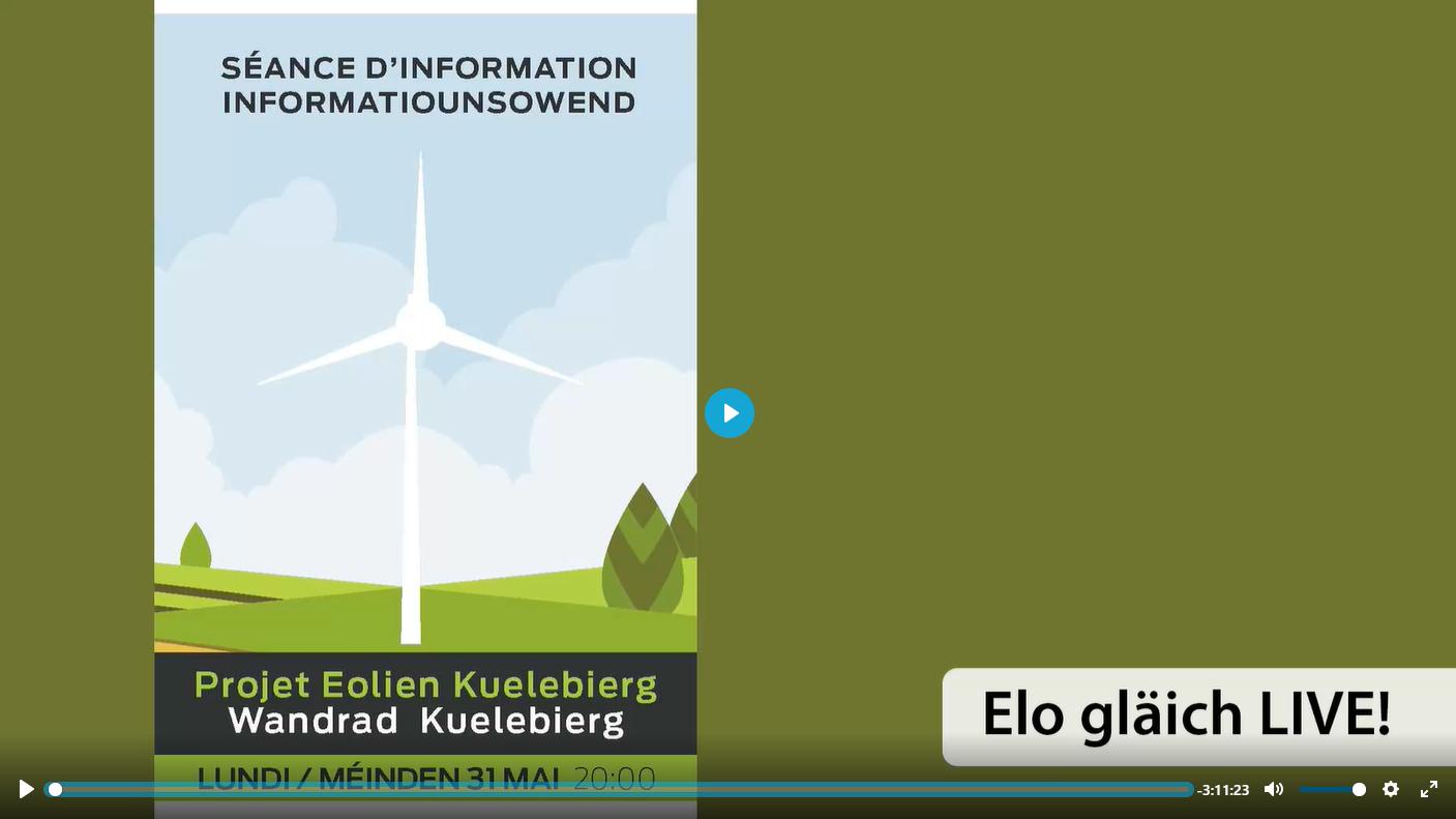 Projet éolien ¦ Wandmillen Kuelebierg - Séance d'information