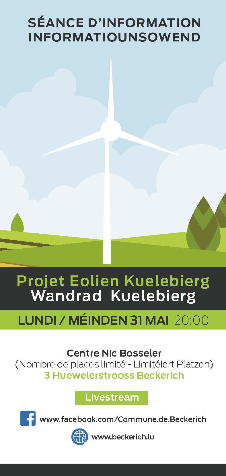 sénce d'information projet éolien affiche